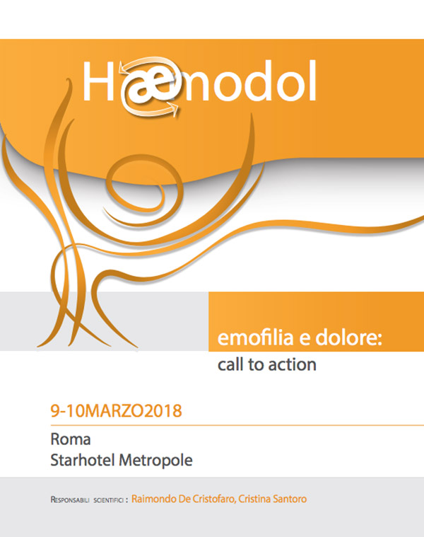 Emofilia e dolore: call to action – 9/10 Marzo 2018 – Roma