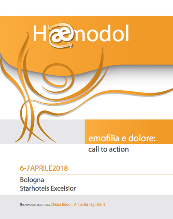 Emofilia e dolore: call to action –  6/7 Aprile 2018 – Bologna