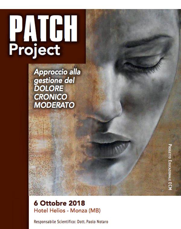 PATCH Project: Approccio alla gestione del DOLORE CRONICO MODERATO – 6 Ottobre 2018 – Monza